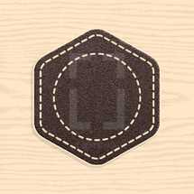 Blank leather badge in retro vintage style. Graphic element for design saved as an vector illustration in file format EPS