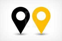 gps map pin point sign location icon in flat style. Graphic element for design saved as an vector illustration in file format EPS