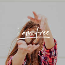 I Am Free Social Graphic