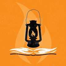 lamp of the world, light, illuminate, Bible, lantern, flame, truth, fire, icon