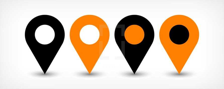 Map pin points sign GPS location icon in flat style. Graphic element for design saved as an vector illustration in file format EPS