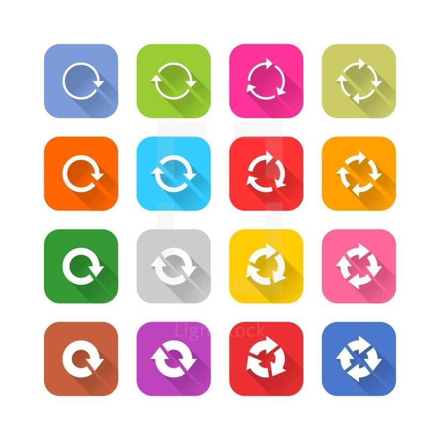 reload icon set